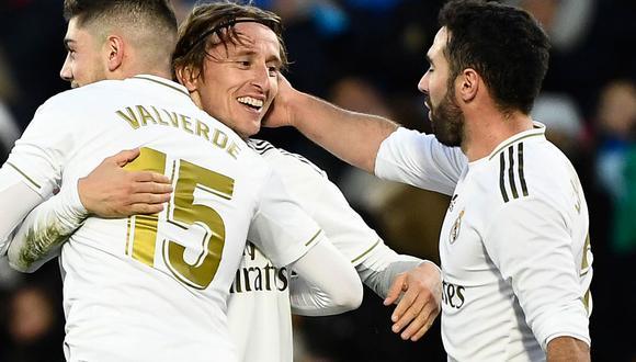 Real Madrid goleó 3-0 a Getafe y le pone presión al Barcelona en la jornada 19 de la Liga Santander. (AFP)