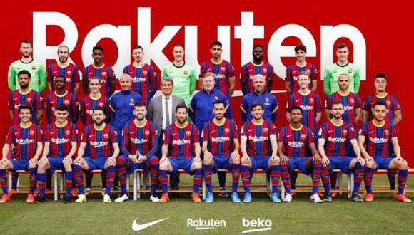 La foto oficial del Barcelona de la temporada 2020-21. (FC Barcelona)