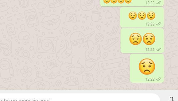 ¿Alguna vez alguien te mandó esta carita preocupada? Conoce qué es lo que quiso decirte en WhatsApp. (Foto: Depor)