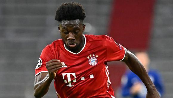 DT del Bayern confirmó el tiempo que estará fuera Alphonso Davies tras lesionarse los ligamentos. (Foto: AFP)