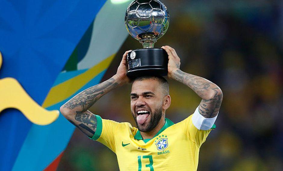 Dani Alves ha ganado dos Copa América en su carrera. (Getty)