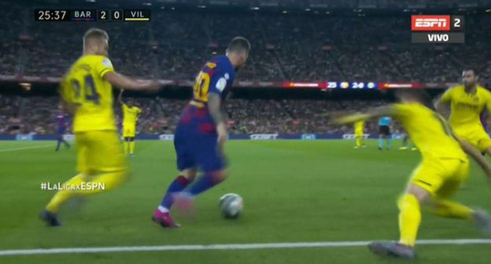 Lionel Messi se ha lucido a los 25 minutos del Barcelona vs Villarreal con una espectacular jugada que levantó a todos los 'Culés' en Camp Nou.
