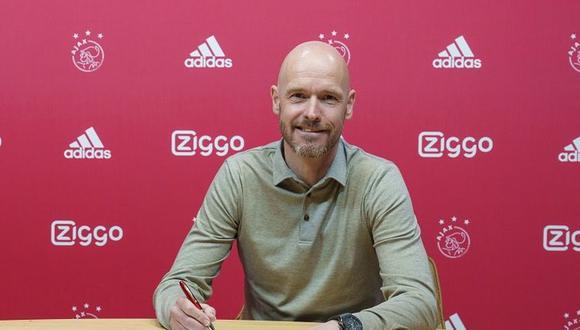 Ten hag seguirá al mando del Ajax hasta el verano de 2023. (Foto: Ajax)